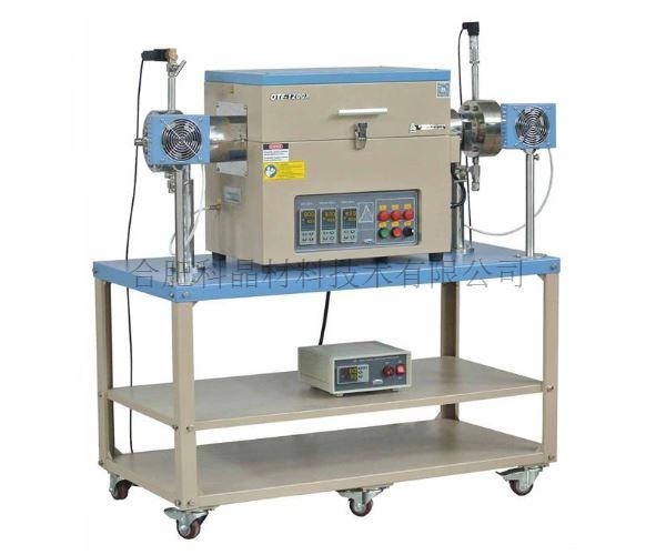 合肥科晶 OTF-1200X-HPV-III-80-GF 1100℃三温区高压高真空管式炉
