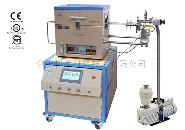 合肥科晶 RTP-1000-LCD 900℃带多通道质子流量计控制系统RTP管式炉